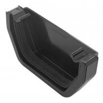 Plastic Guttering Squareline - Stop End External - 114mm x 95mm - Black