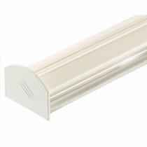 Corotherm - Polycarbonate Sheet Rafter Glazing Bar Kit - White (3m)