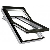 Fakro Roof Window - Centre Pivot in Pine - Energy Efficient Triple Glazing [FTT U6]
