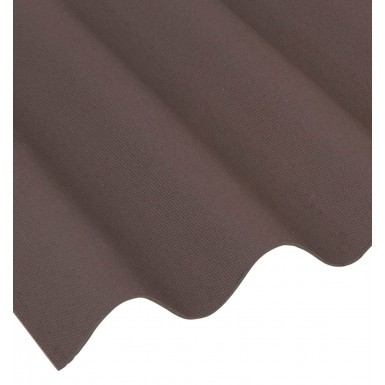 Coroline - Corrugated Bitumen Roof Sheet - Brown (2000 x 950mm)