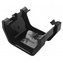 Plastic Guttering Squareline - Union - 114mm x 95mm - Black