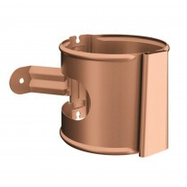 Lindab Guttering - Magestic Pipe Bracket with Wedge - Natrual Copper