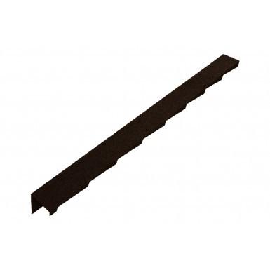 Britmet - Plaintile - Left Hand Barge - Bramble Brown (1250mm)