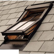 Fakro Roof Window - Conservation Centre Pivot Window in White PVC - Laminated Double Glazing [PTP-V/C P2]
