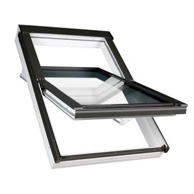 Fakro Roof Window - Centre Pivot in White PVC - Laminated Double Glazed [PTP-V P2]