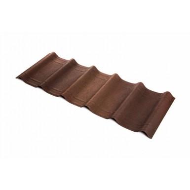 Onduvilla - Bitumen Roof Tiles - Shaded Brown (2.18 m2 Coverage - Pack of 7)