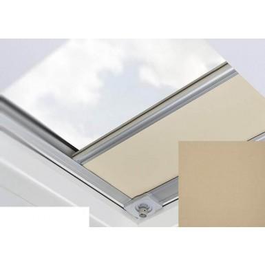 Fakro - ARF/D II 227 - Flat Roof Manual Blackout Blind - Tortilla Brown
