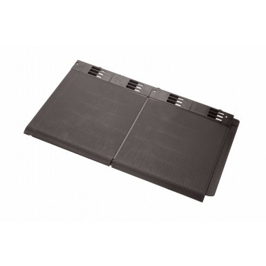Envirotile - Double Plastic Tile - Dark Brown (Pack of 10)