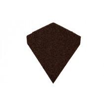 Britmet - Lightweight Metal Roof Shingle - Slimline Ridge End Cap - Rustic Brown