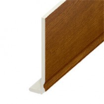 Fascia UPVC Capping Board - Ogee 200mm x 9mm - Golden Oak (5m)
