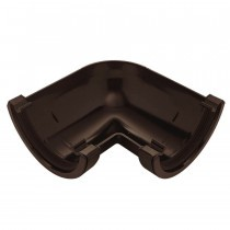 Plastic Guttering Half Round - 90˚ Angle - 114mm x 51mm - Brown
