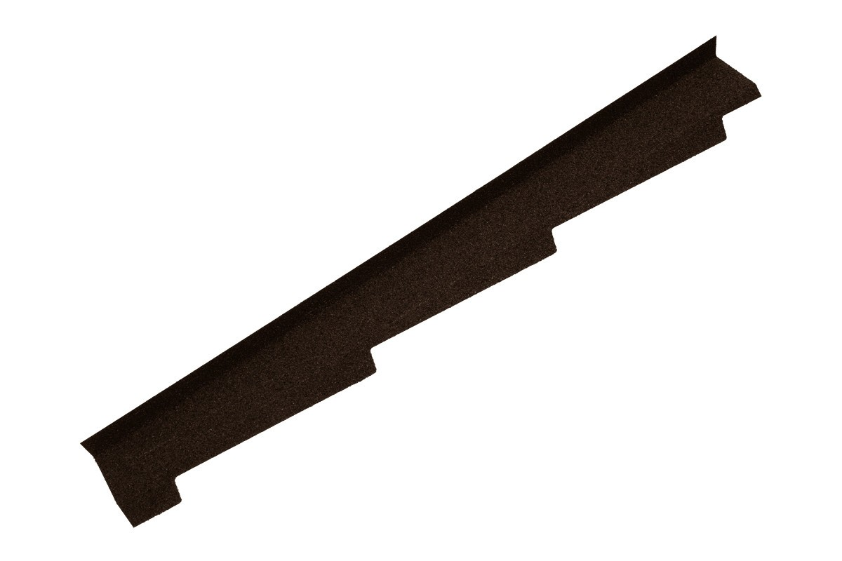 Britmet - Left Hand Side Wall Flashing - Bramble Brown (1250mm)
