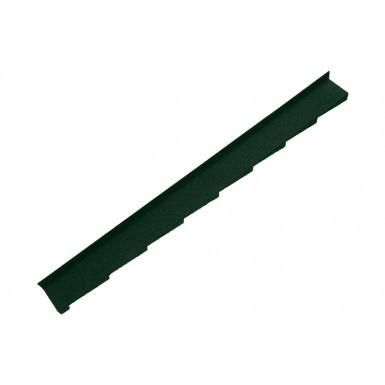 Britmet - Plaintile - Left Hand Side Wall Flashing - Tartan Green (1250mm)
