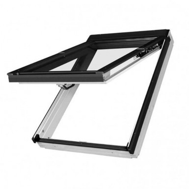 Fakro Roof Window - Top Hung in White Acrylic Coated Pine - Laminated Double Glazing [FPW-V P2]