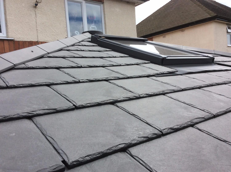 Envirotile Double Plastic Slate Tile Slate Grey Pack