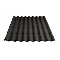 Britmet - Pantile 2000 - Tile Effect Sheet - Made to Measure - Charcoal (0.9mm)