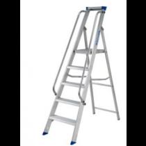 Werner Aluminium Platform Stepladder with Double Handrails