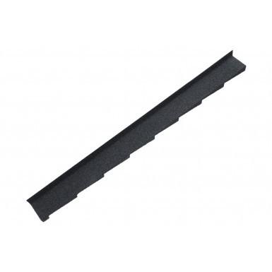 Britmet - Plaintile - Left Hand Side Wall Flashing - Titanium Grey (1250mm)