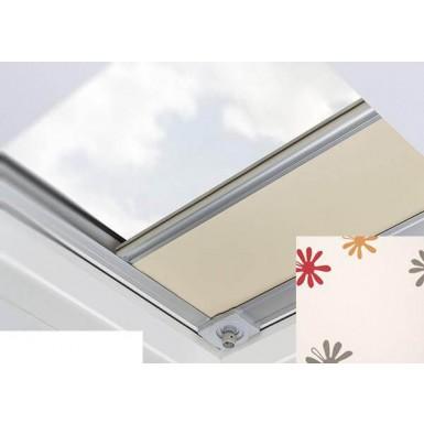 Fakro - ARF/D III 239 - Flat Roof Manual Blackout Blind - Cream