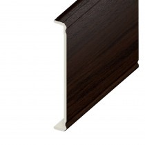 Box-end UPVC Capping Board - Ogee 404mm x 9mm - Rosewood (1.25m)