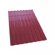 Britmet - Ecopan - Lightweight Metal Roofing Sheet - Smooth Red (1530x1080x0.7mm)