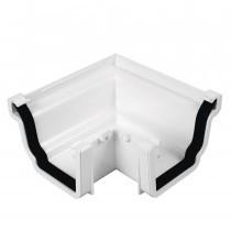 Plastic Guttering Universal Plus - External 90˚ Angle 128mm x 88mm - Brown