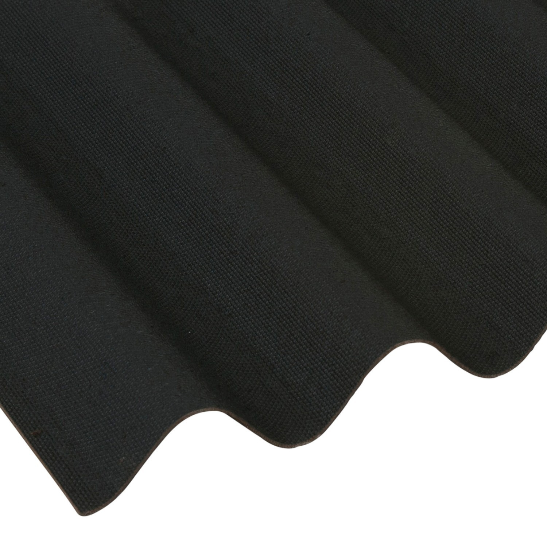 Coroline Corrugated Bitumen Roof Sheet Black 2000 X 950mm Roofing Megastore