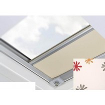 Fakro - ARF/D III 239 - Flat Roof Manual Blackout Blind - Cream