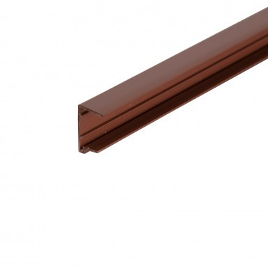 Corotherm - 25mm Polycarbonate Sheet End Caps - Brown (2100mm Pack of 2)
