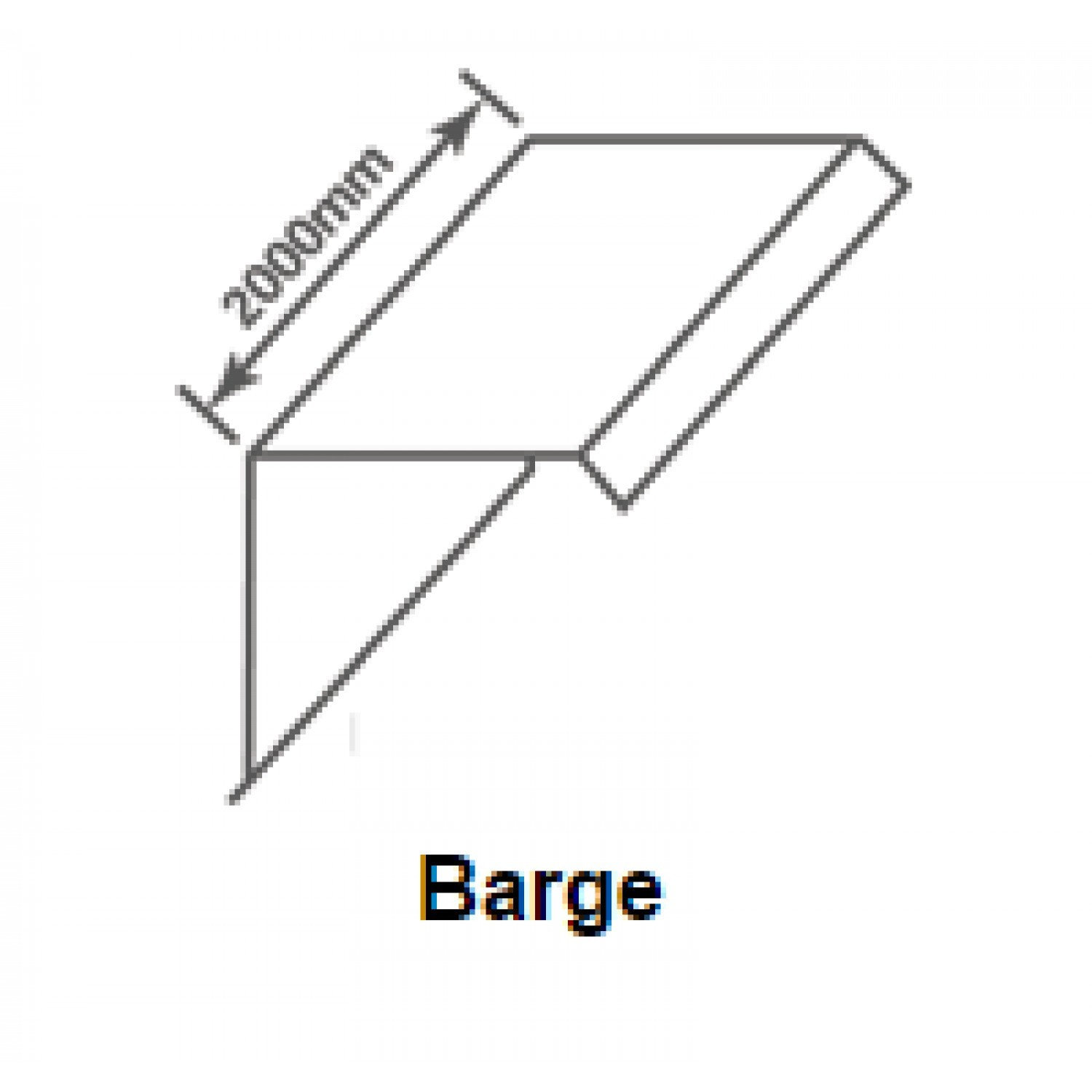 Britmet - Pantile 2000 - Barge Flashing - Tudor Brown (2000mm)