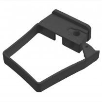 Plastic Guttering Squareline - Single Fix Down Pipe Clip - 65mm - Black