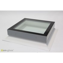 Em-Glaze Flat Glaze Skylight with 150mm PVC Splayed Upstand - Square