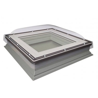 Fakro Flat Roof Window - DXC-C P4 - Non-Opening Domed Flat Roof Window - Secure Double Glazing