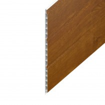 Hollow UPVC Soffit Board - 300mm x 9mm - Golden Oak (5m)