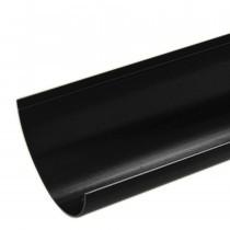 Plastic Guttering Half Round - 114mm x 51mm - Black
