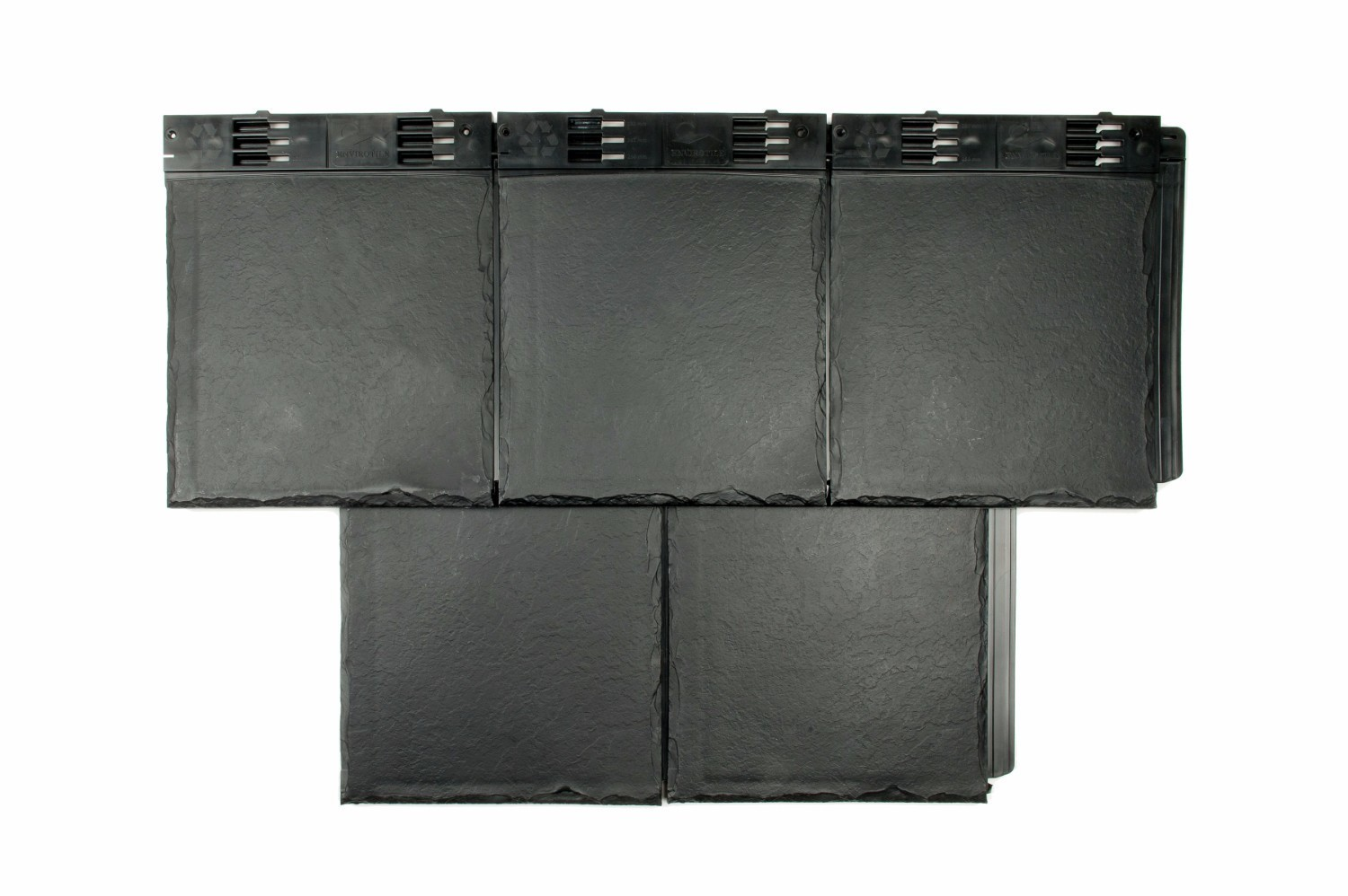 Envirotile Plastic Slate Tile Slate Grey Pack Of 10