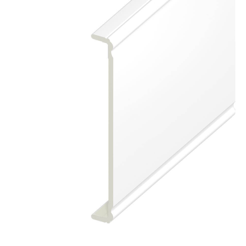 Box End Upvc Capping Board Ogee 404mm X 9mm White 1 25m