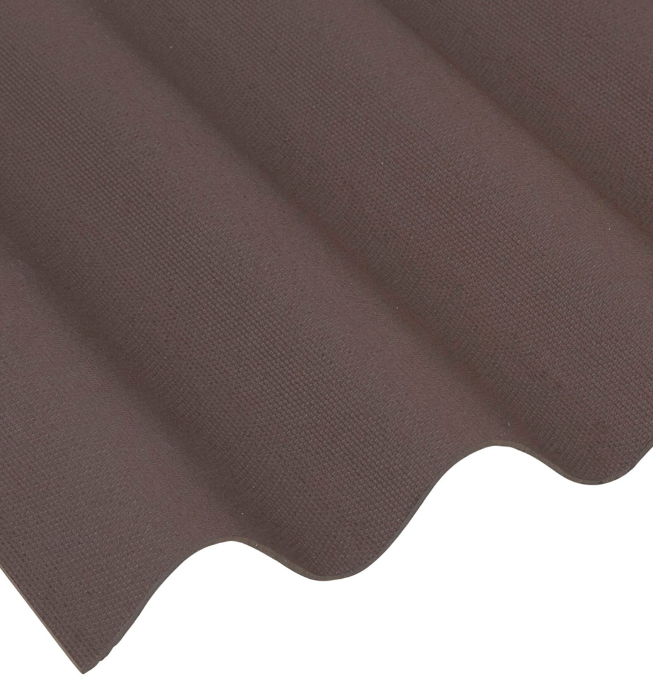 Coroline Corrugated Bitumen Roof Sheet Brown 2000 X 950mm