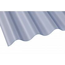 "Vistalux PVC Corrugated Sheet - ASB 3"" Heavy Duty - Clear"