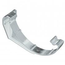 Plastic Guttering Half Round - Fascia Bracket - 114mm - White