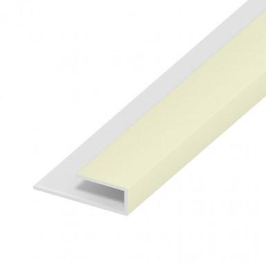 Soffit Board Wall Clip - 25mm - Cream (5m)