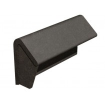 Marley Left Hand Concrete Modern Mono Ridge With Stop End - 457Mm