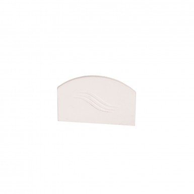 Corotherm - 25mm Polycarbonate Sheet Glazing Bar End Caps - White