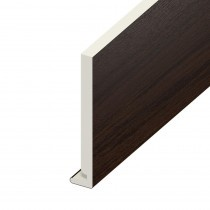 Fascia UPVC Board - Plain 225mm x 18mm - Rosewood (5m)