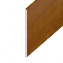 Soffit UPVC Board - Flat 225mm x 9mm - Golden Oak (5m)