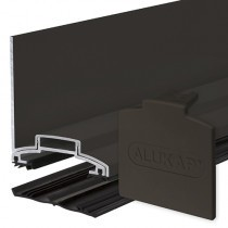 Alukap-XR - 60mm Aluminium Wall Bar with End Cap - Brown