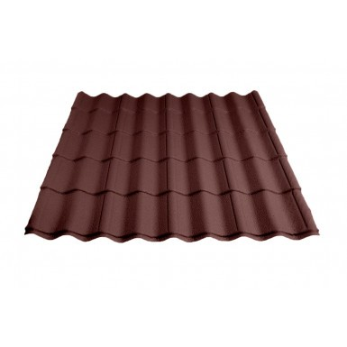 Britmet - Pantile 2000 - Tile Effect Sheet - Made to Measure - Antique Red (0.9mm)