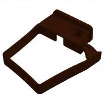 Plastic Guttering Squareline - Single Fix Down Pipe Clip - 65mm - Clay Brown