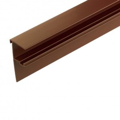 Corotherm - 25mm Polycarbonate Sheet Side Flashing - Brown (3m)