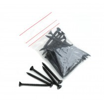 Lightweight Tiles - Plastic Coated Fixing Screws - Black (Pack of 40)